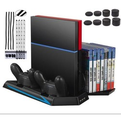 MyXL Verticale Stand voor PS4 Console-Koelventilator Controller Laadstation Cooler Game CD Opslag Dualshock Charger + Stofdicht Kit <br />  GAOCHENG