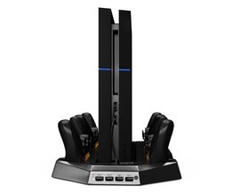 Verticale Lading Stand Dual Koeler Fans Voor PS4 Playstation 4 Console Vier Opladen Stations voor PS4 Controllers DualShock 4 <br />  ALLOYSEED