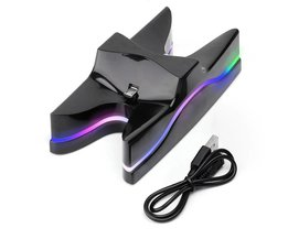Multi Kleuren Controllers Charger Stand LED Dual Charger Station Charging Stand Dock voor PlayStation 4 PS4 Controller Console <br />  ALLOYSEED