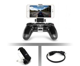 Game controller gamepad houder clip mount cradle uitschuifbare mobiele telefoon stand klem met otg kabel voor sony playstation 4 ps4 <br />  ALLOYSEED