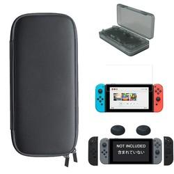 MyXL 5 in 1 Kit Draagtas Tas + Gehard Glas Film Beschermen + Controller Silicon Case + Duimgrepen Caps + Card Case voor Nintendo Schakelaar <br />  LINGHUANG