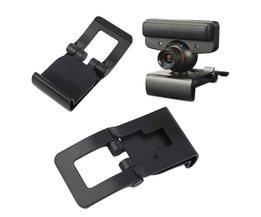 Zwarte TV Clip Beugel Verstelbare Mount Houder Stand Voor Sony Playstation 3 PS3 Move Controller Eye Camera Groothandel <br />  OXA