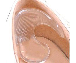 1 Paar Silicone Schoenzolen Gel Pads Voor Voetverzorging Beschermen terug Hak Gel Inlegzolen Pads Antislip Pedicure Voetverzorging Stimulator <br />  MyXL