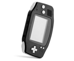 Voor GBA Frame Onderdelen Volledige Set Behuizing Shell Case Cover Voor Nintendo Voor GameBoy Advance Effen Zwarte Repalcement Onderdelen <br />  <br />  ShirLin