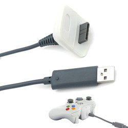 MyXL USB Play Opladen Charger Cable Koord voor XBOX 360 Draadloze Controller <br />  ALLOYSEED
