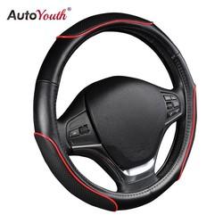 """MyXL Auto Stuurhoes Sportief Wave Patroon met Rode Lijn Stiksels M size Fits 38 cm/15 """"Diameter Auto Accessoires <br />  AUTOYOUTH"""
