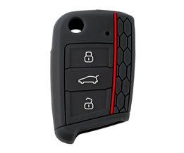 Auto Accessoires Key Geval Sleutel Tas Cover Volkswagen voor VW Golf 7 mk7 voor Skoda Octavia A7 Siliconen Sleutel Portect Case <br />  CATUO