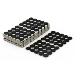 MyXL Kabinet Benen Ronde Zelfklevende Oppervlak Meubilair Viltjes Matten Zwart 15 Mm Dia 400 Pcss <br />  X Autohaux
