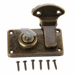 MyXL Vintage meubels hardware antieke doos vergrendelingen decoratieve hasp sieraden houten doos koffer hasp klink toggle met sleutel en schroef <br />  DRELD