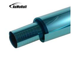 AuMoHall 0.5 m * 3 m Blauw Auto Side Raamfolies Auto Venster Verven Film <br />  AUMOHALL