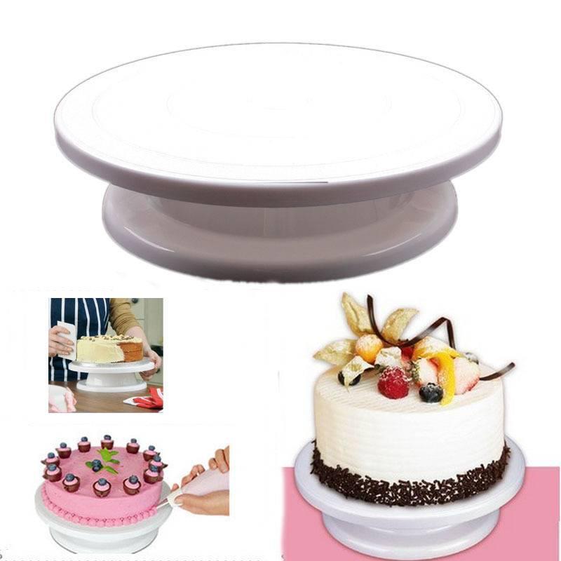 Taart Kwartelplaat Revolving Cake Sugarcraft Turntable Decoratie Stand Platform draaitafel Bakken Ca