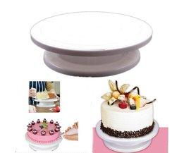 Taart Kwartelplaat Revolving Cake Sugarcraft Turntable Decoratie Stand Platform draaitafel Bakken Cake Tools EJ870264