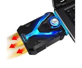 IJS COOREL Laptop Koeler Snelle Dropdown CPU Temperatuur Smart Laptop Cooling Pad Krachtige Ventilatie Fans Voor 12-17 inch Notebook