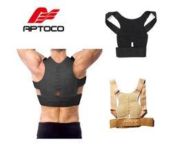 Aptoco braces & ondersteunt verstelbare terug houding corrector riem ondersteuning body corrector lumbale schouder brace riem voor man vrouwen