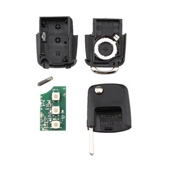 MyXL RIN 3 Knop Afstandsbediening Sleutel voor VW SKODA Roomster Fabia Superb Autosleutels Afstandsbediening 434.4 MHz 48 Chip 1J0959753DA 1J0 959 753 DA