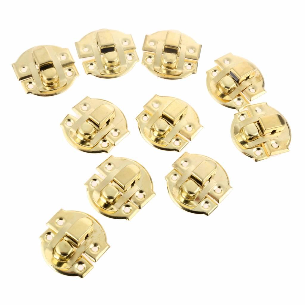 10 stks antieke gouden doos hasps iron lock vangst vergrendelingen voor sieraden borst box koffer ge