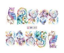 12 Ontwerpen Nail Art Sticker Set Windmolen Fantasy Afbeelding Patronen Water Transfer Decals Nail Beauty DIY Tattoos Manicure BN301-312