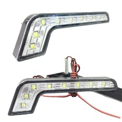 MyXL 2 STKS Auto 8 LED 5050 Xenon Wit Driving Mistlamp DRL Dagrijverlichting DC 12 V Auto-styling Voor Ford Focus MK1 MK2 C-max