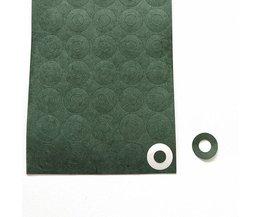 100 stks 1 S 18650 Batterij Isolatie Pakking Gerst Papier Batterij Mobiele Isolerende Lijm Patch Positieve Elektrode Geïsoleerde Pads