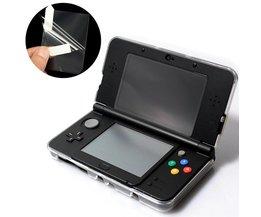 2 in 1 Clear Top Bottom Transparen Lcd-scherm Cover HD Clear Film Beschermende Oppervlak Guard Voor Nintendo Voor3DS