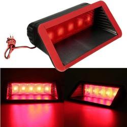 MyXL Universele 12 V Auto 5 LED Waarschuwing Achterlichten 3rd Derde Remlicht Stop Mistlamp Hoge Mount Lamp Rood