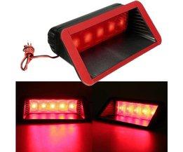 Universele 12 V Auto 5 LED Waarschuwing Achterlichten 3rd Derde Remlicht Stop Mistlamp Hoge Mount Lamp Rood
