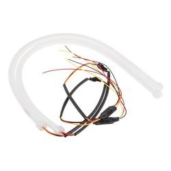 MyXL 2 stks 60 cm DRL Flexibele LED Tube Strip Stijl Dagrijverlichting Tear Strip Auto Koplamp Richtingaanwijzer Parking Lampen