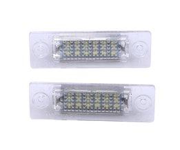 2x Kenteken Plaat Licht Lamp 18-LED Voor VW Caddy Transporter Passat Auto Kentekenverlichting ME3L