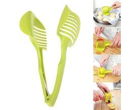Keuken Plastic Tomaat Snijmachine Handy Fruit Houder Citroen Cutter Slicer Gereedschap Creatieve Kookgerei