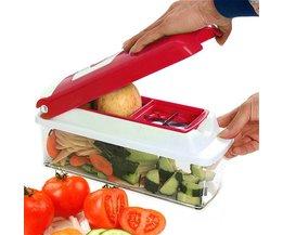 Multifunctionele Groentesnijder Roestvrij en ABS Groente Rasp Gadget Friut Cutter Draagbare Keuken Tool