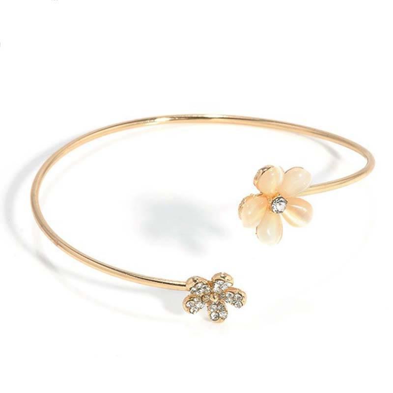 LNRRABC Leuke Mode Golden Open Armband Kleine Daisy Set boor Crystal Plated Kleine Verse Charm Siera