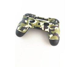 Een set Case Voor + back Bovenste Onder Shell Behuizing Cover voor Sony PS4 DualShock 4 Controller Groen Camouflage (US/HK Versie)