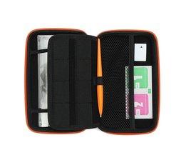 3 In 1 Accessoire Set Voor2DS LL Met Wit EVA Carrying Case Tas + Screen Protector + Stylus Set Voor Nintendo2DS XL/LL