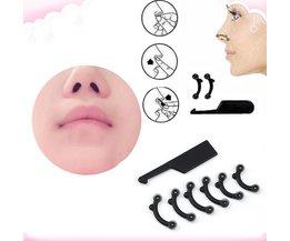 6 Stks/set 3 Size Beauty Nose Up Lifting Brug Shaper Massage Tool Geen Pijn Neus Vormgeven Clip Clipper Vrouwen Meisje Massager