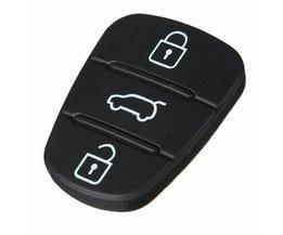 2x3 Knop Afstandsbediening Sleutelhanger Case Rubber Pad Voor Hyundai I10 I20 I30 Flip Sleutel Case Sleutel Shell voor auto