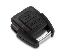 AUTO-partmentkoop 2 knoppen Zwart Vervanging Keyless Entry Afstandsbediening ABS Sleutelhanger Shell Case voor Opel Astra Mk4 Vectra B