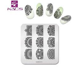 KADS NieuweVolledige Beauty Kant Bloem Nail Art Print Stempelplaten Nail PolishTemplate Manicure Stencil DIY Styling Tools