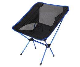Klapstoel Strand Seat Lichtgewicht Seat Voor Wandelen Vissen Picknick Barbecue Voor Vocation Casual Camping Vissen Diepblauwe