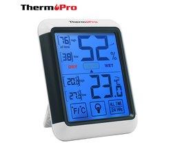 ThermoPro TP-55 Digitale Hygrometer Indoor Thermometer Temperatuur Vochtigheid Gauge met Jumbo Touchscreen en Backlight Monitor