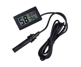 Digitale LCD Thermometer Hygrometer Elektronische Temperatuur-vochtigheidsmeter Weerstation Indoor Outdoor Tester