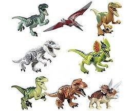 8 stks/partij dinosaurussen van jurassic figuur world film speelgoed diy bouwstenen sets model speelgoed kids geschenken