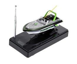 Mini Boot Radio Elektrische Afstandsbediening RC Super Mini Speedboot Dual Motor voor Kids Kinderen Kerst Verjaardag Speelgoed