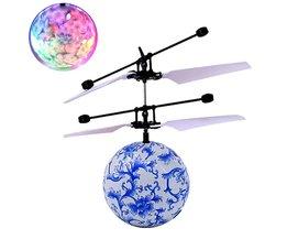 Blauw RC Vliegende Bal Drone Helicopter Bal Ingebouwde Shining LED Verlichting voor Kids Tieners Afstandsbediening Vlucht Speelgoed Voor Jongen