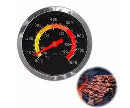 Rvs 10-400degree BBQ Roker Grill Thermometer Temperatuurmeter 50-800Fahrenheit