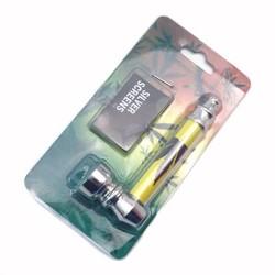 MyXL Metalen Blad Patroon Pijp Jamaica Weed Tabak Pijp Pijpen CreativeRook + Filter Mesh