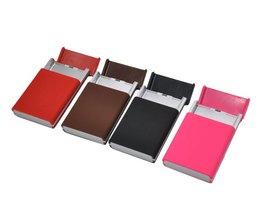 1 XCollectie Silm Mode Plastic Sigarettenkoker Pocket Size Draagbare Persoonlijkheid Sigaret Doos. kleur Willekeurige