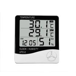 MyXL HTC-2 LCD Digitale Thermometer Hygrometer Indoor Outdoor Elektronische Temperatuur-vochtigheidsmeter Wekker Weerstation