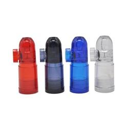 MyXL 24 stks/partij Plastic Snuff Dispenser Bullet Rocket Snuiven Sunff Snorter Sniffer