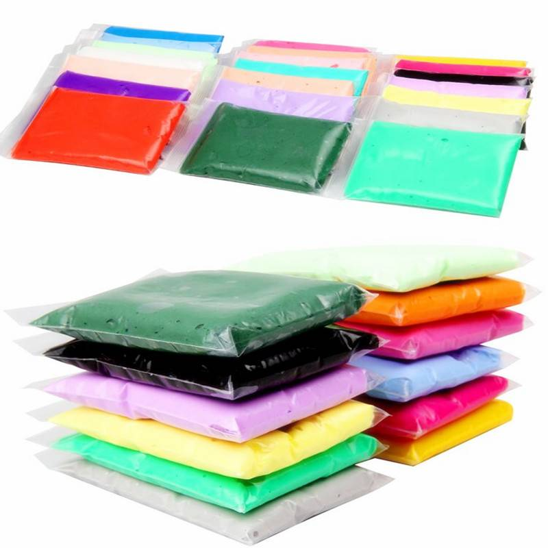 24 kleuren Super lichte klei Air drogen Soft Polymer Boetseerklei met tool Educatief speelgoed Speci