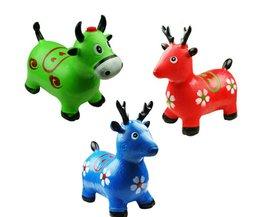 Kids Animal Bouncy Speelgoed Met Opblaasbare Springen Dier Out-deur Sport Ritten Op Dier Verbeteren Springen Willekeurige Levering
